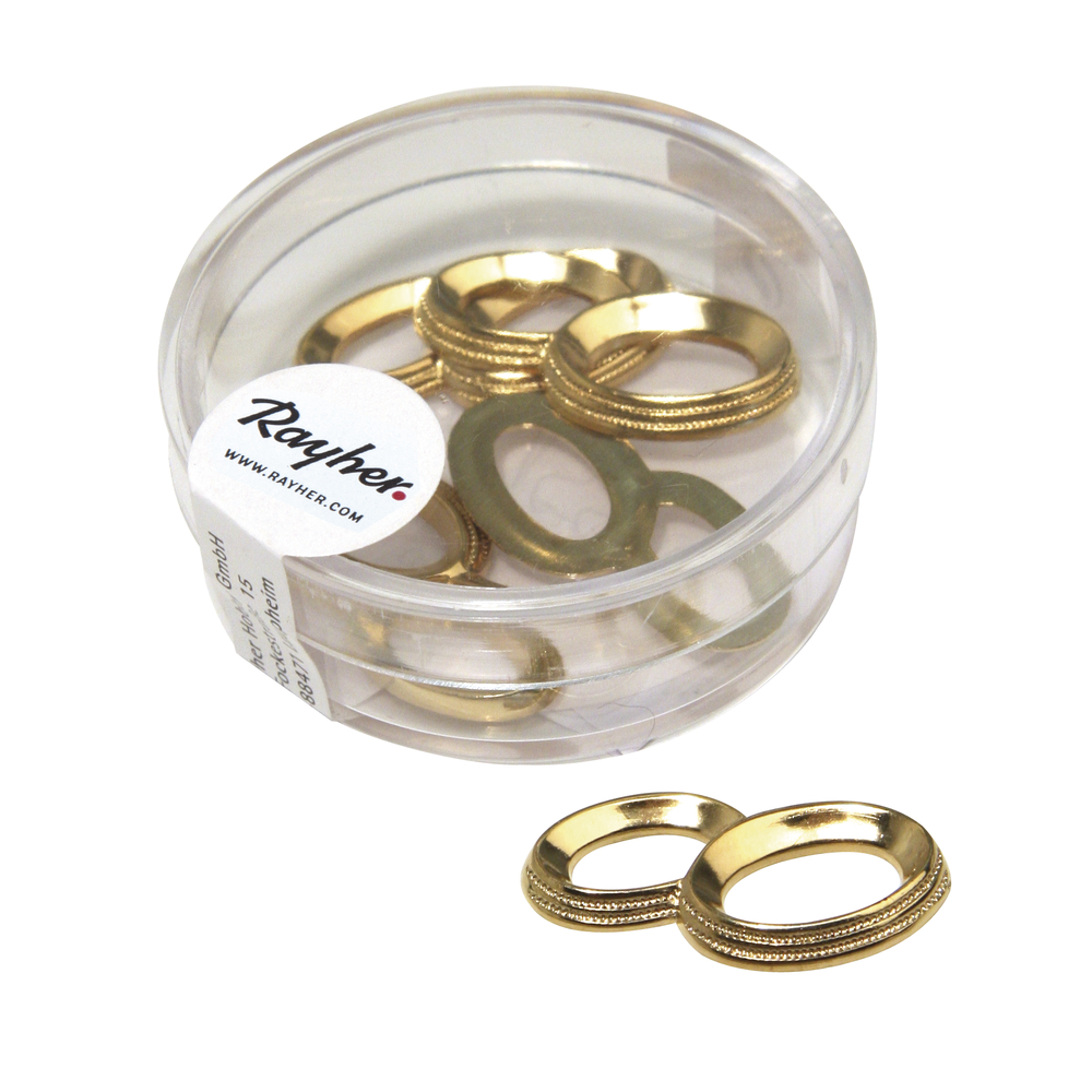 Acryl-Eheringe, 25mm ø, Dose 5Stück, gold