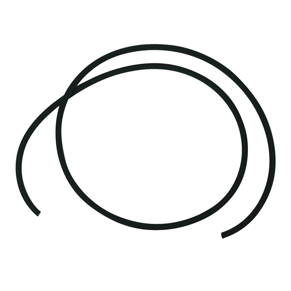 1 Meter Kautschuk-Band, rund, ø 4,0 mm, schwarz