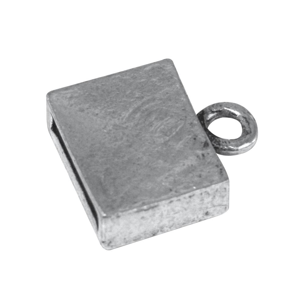 Schmuckverschluß, 1,4x1,6x0,5 cm, silber