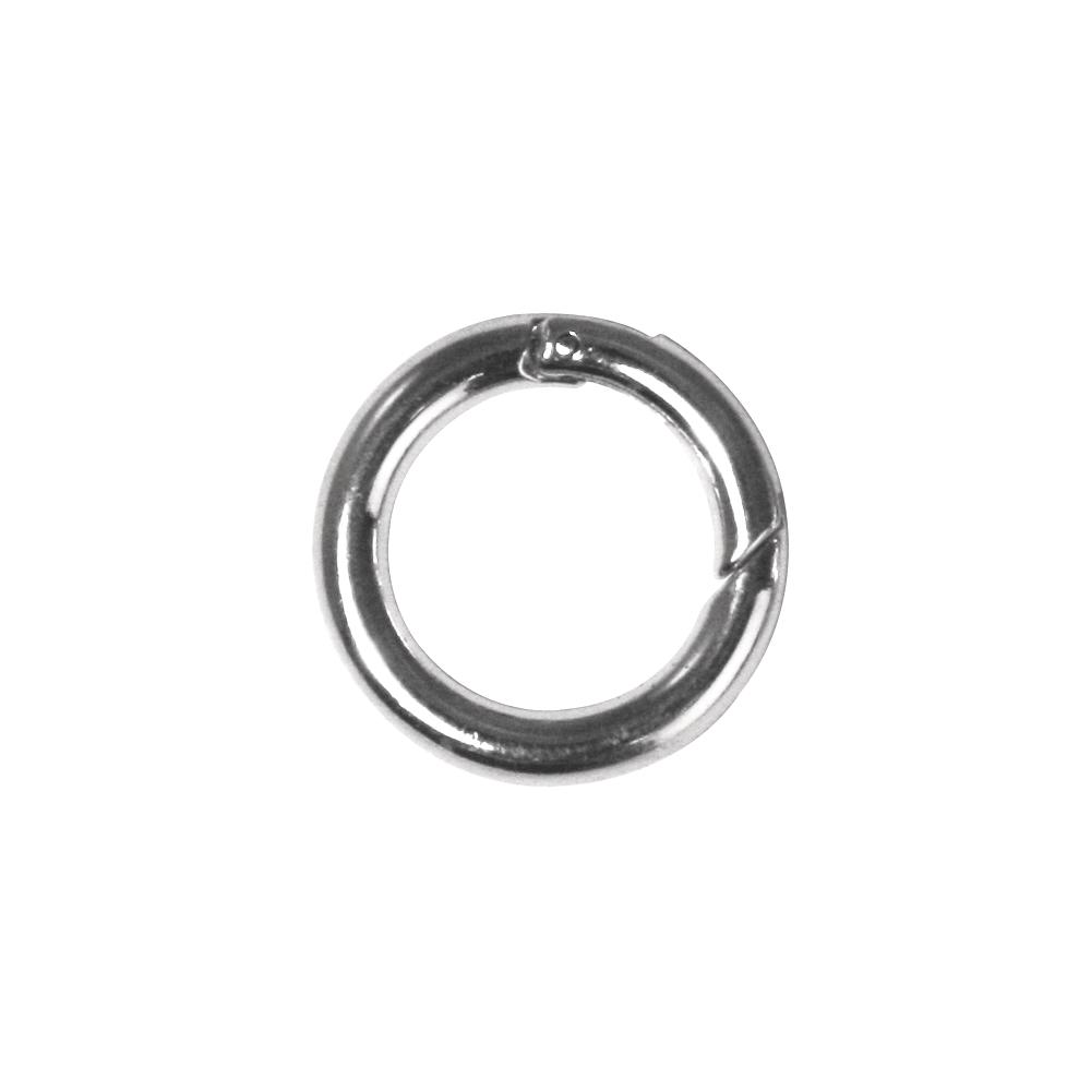 Ringverschluß, rund, 25mm ø, SB-Btl 1Stück, platin