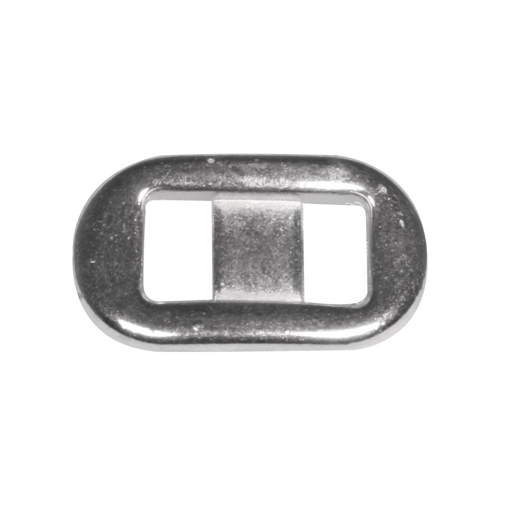Metall- Zierelement oval, 1,3x2,2cm, Loch 6mm breit