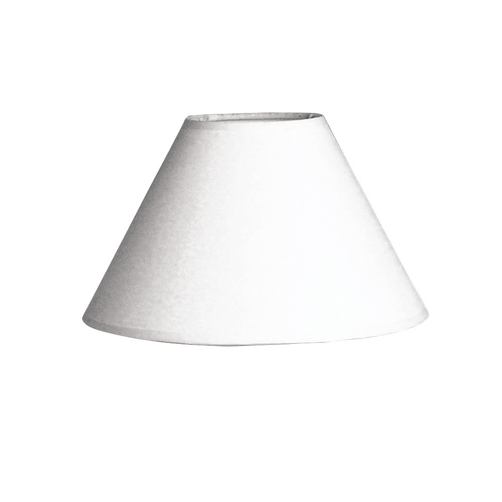 Lampenschirm, rund, 19,5 cm ø, Höhe 12,5 cm, weiß