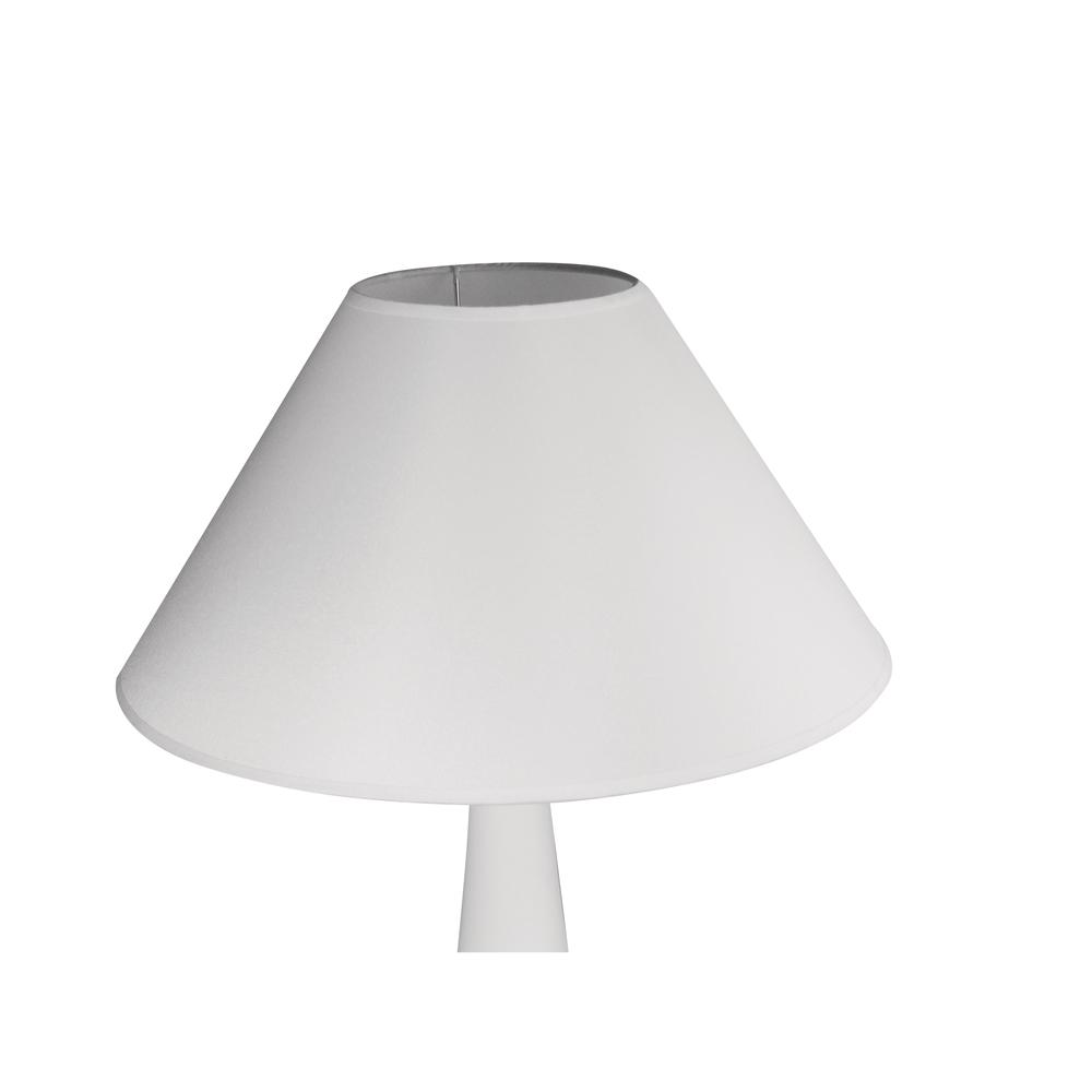 Lampenschirm, konisch, rund, 12-35cm ø, 22cm, für E27,max.60 Watt,für Stehlampen, weiß