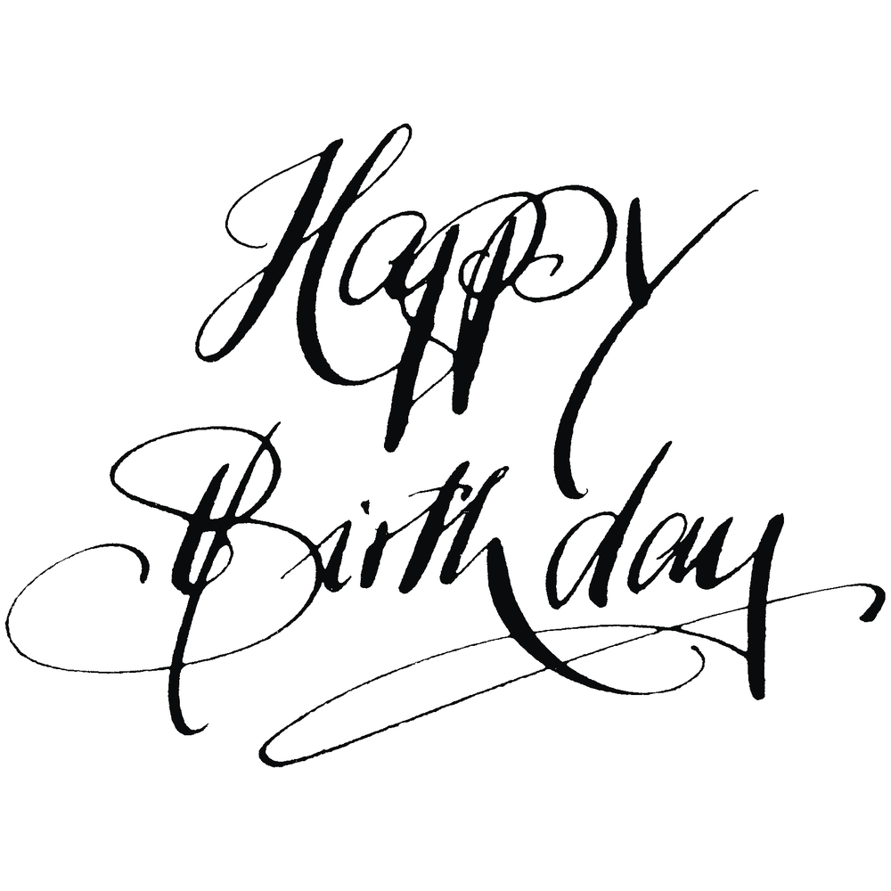 H.- Stempel Happy Birthday, 6x8cm, Art.15910