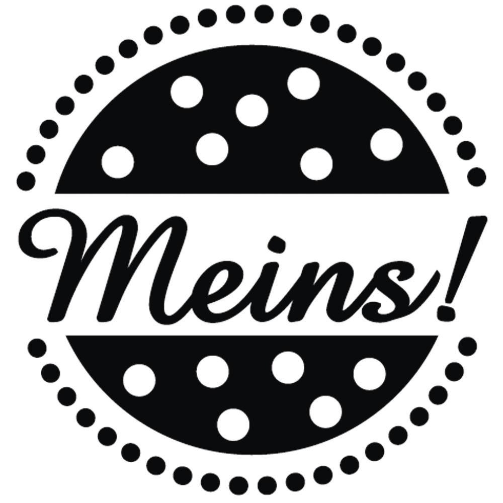 Mini-Holzstempel Meins!, 2cm ø