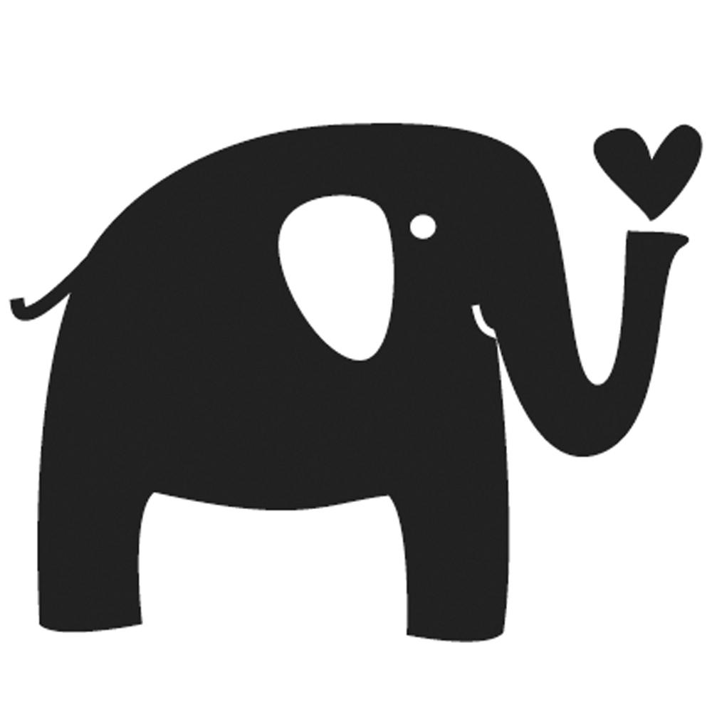 Mini-Holzstempel Elefant, 2cm ø