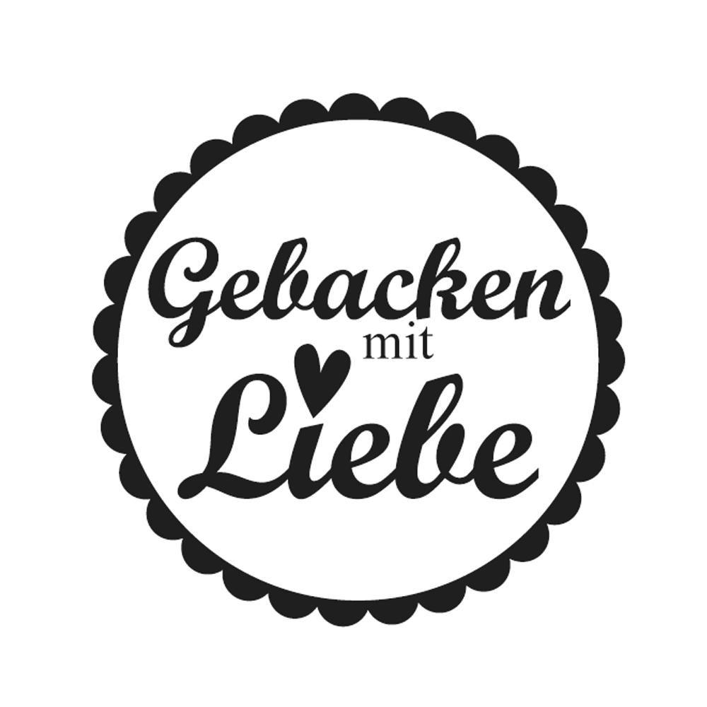 Mini-Holzstempel Gebacken.., 2cm ø