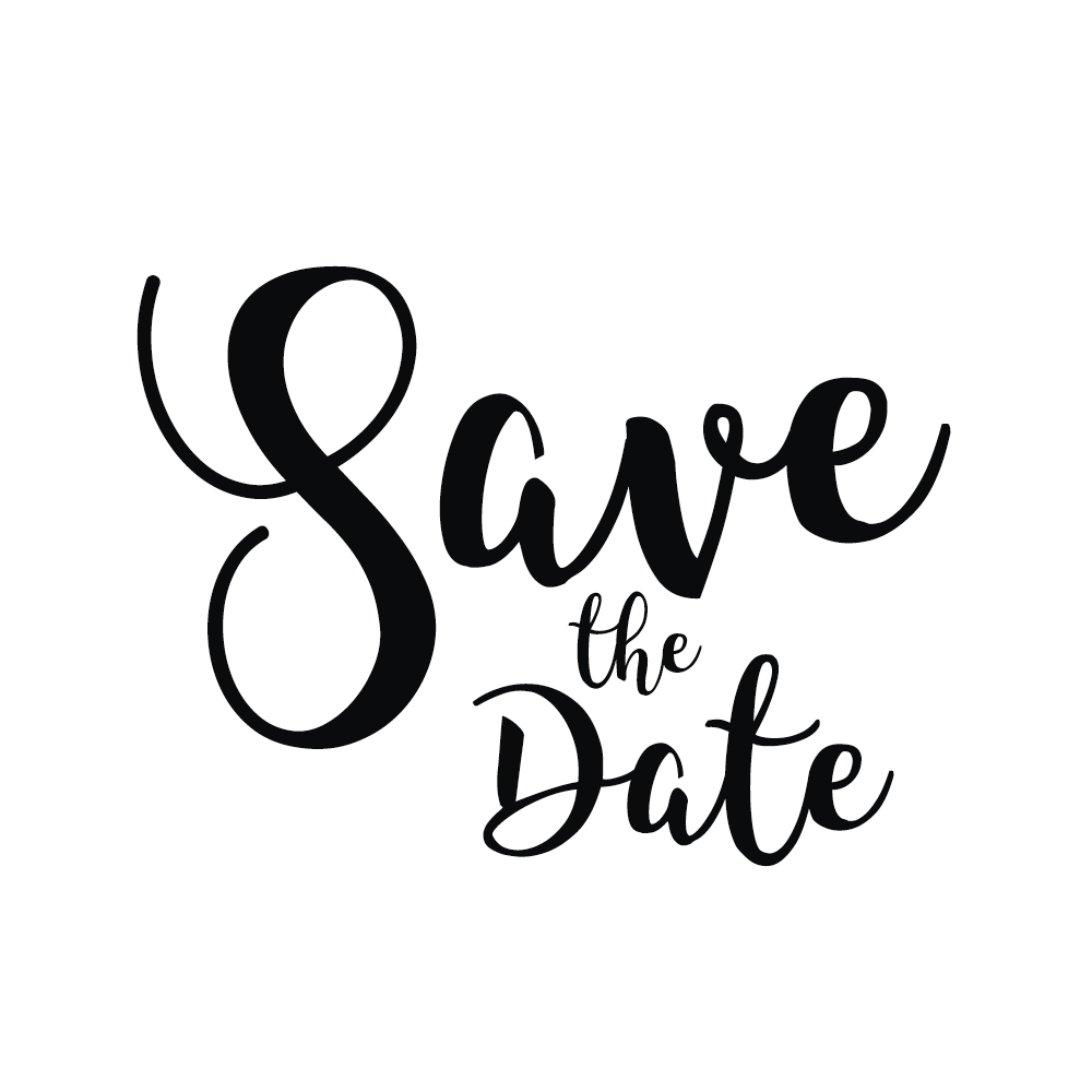 Stempel Save the Date, 6x7cm