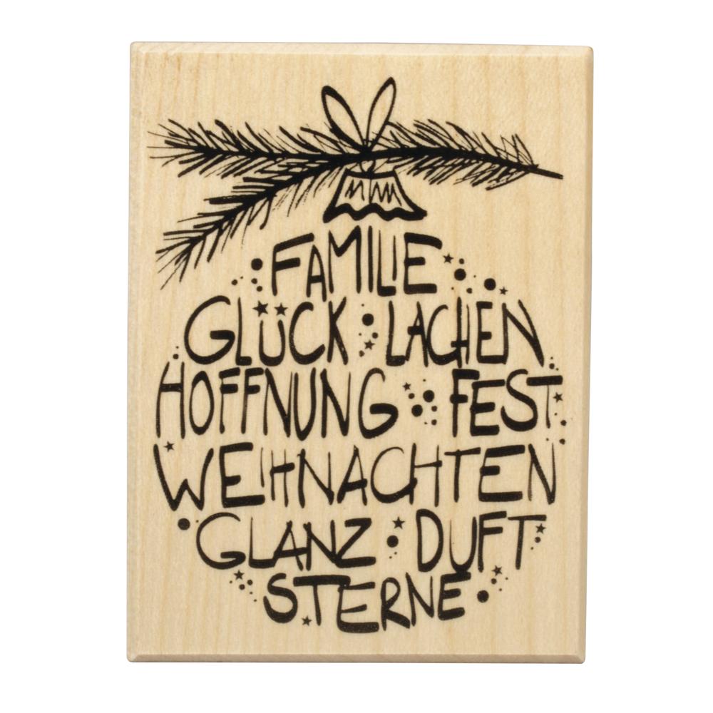 Stempel Weihnachtsglück, 6x8cm