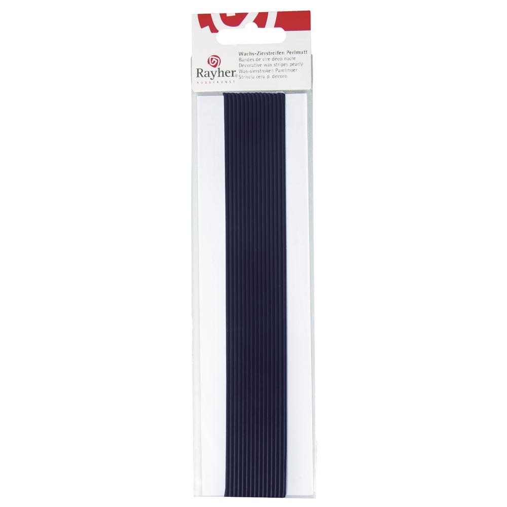 Wachs-Zierstreifen Perlmutt, 20 cm, 2 mm, SB-Btl. 15 Stück