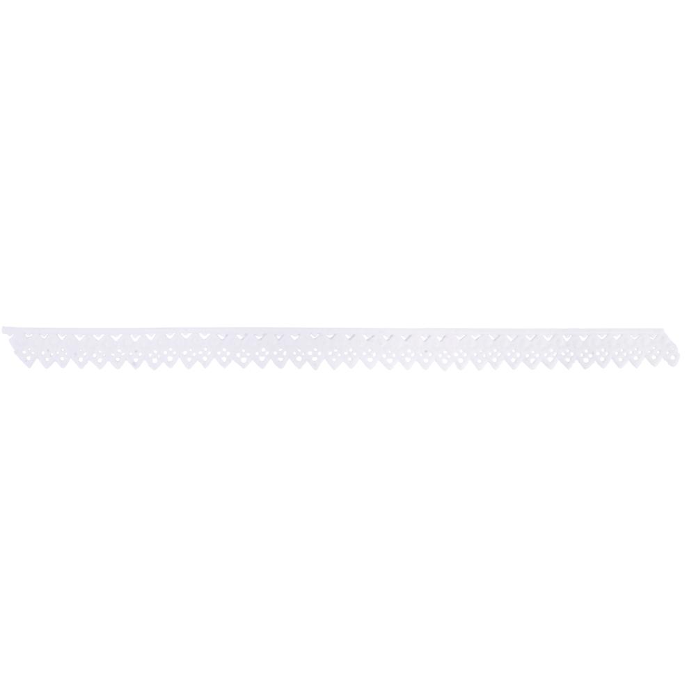 Wachs-Zierstreifen Spitze, 23,5x1,5cm, SB-Btl 1Stück, weiß