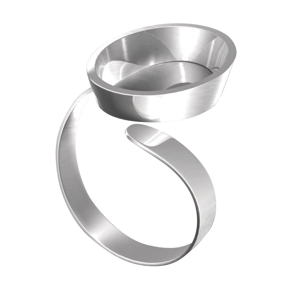 Fimo Schmuck Ring mit ovale Wanne, größenverstellbar, SB-Karte, 8625 04