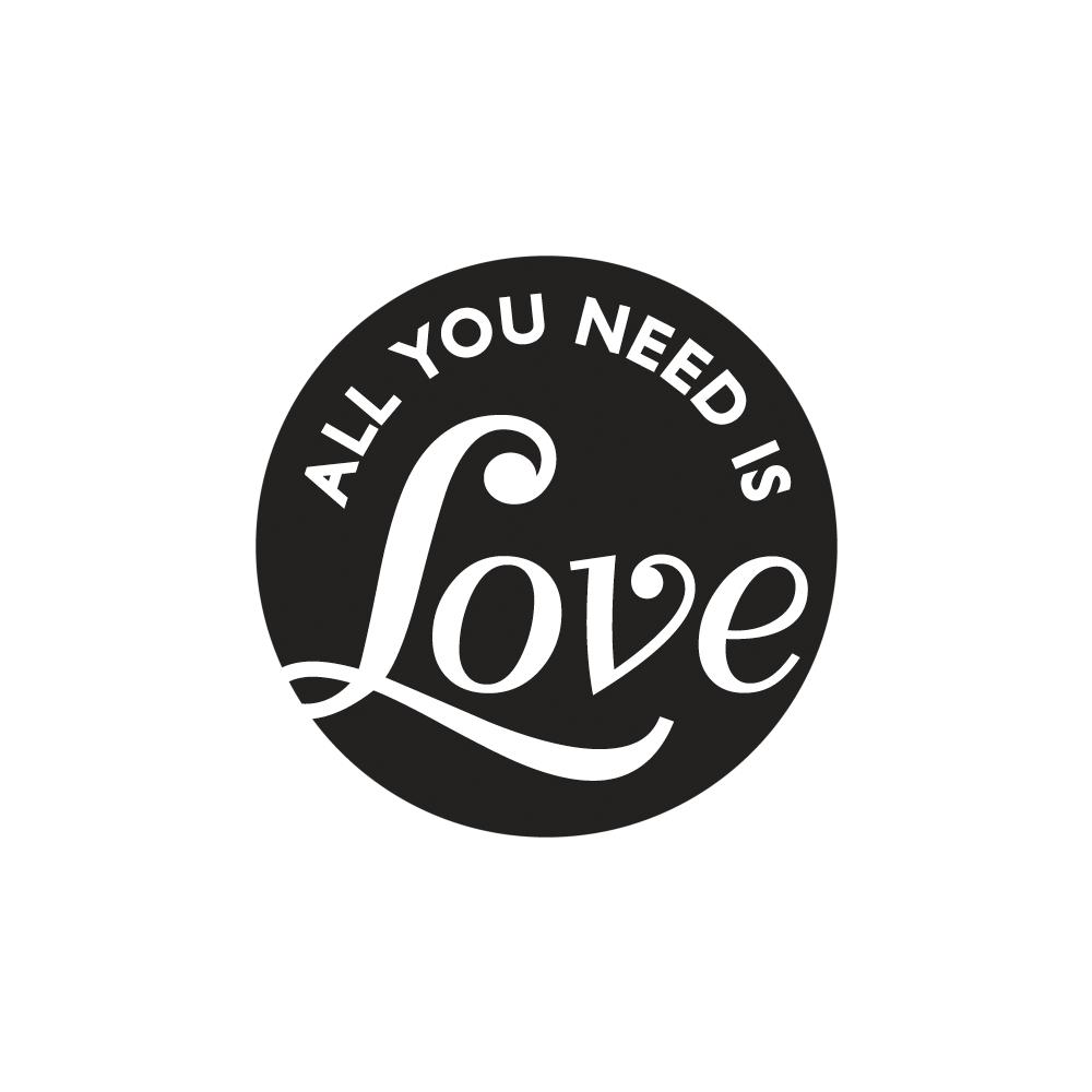 Labels GB All you need is Love, 45mm ø, SB-Btl 1Stück