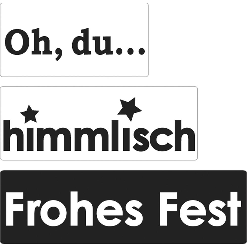 Labels Oh,...+himmlisch+Frohes..., 30x15mm, 40x15mm, 50x15mm, SB-Btl 3Stück