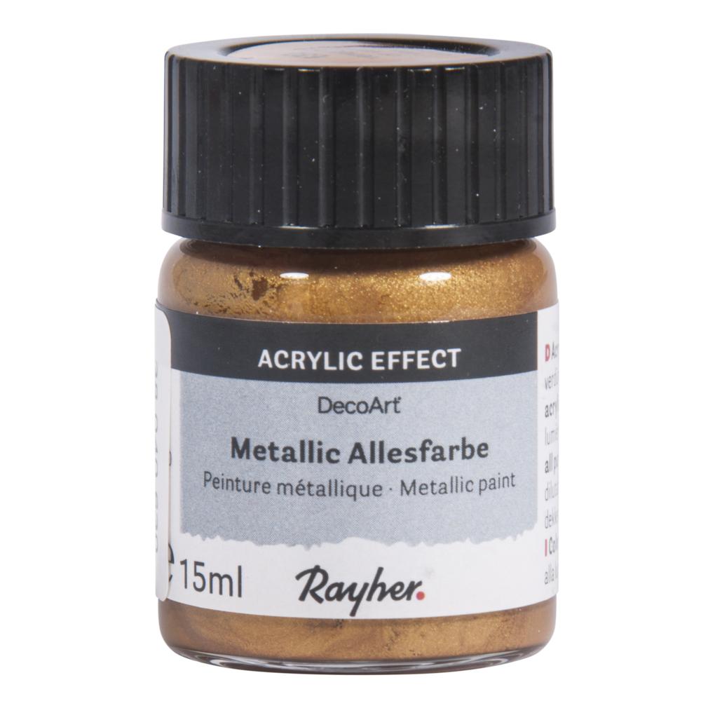 Metallicfarbe, Glas 15 ml