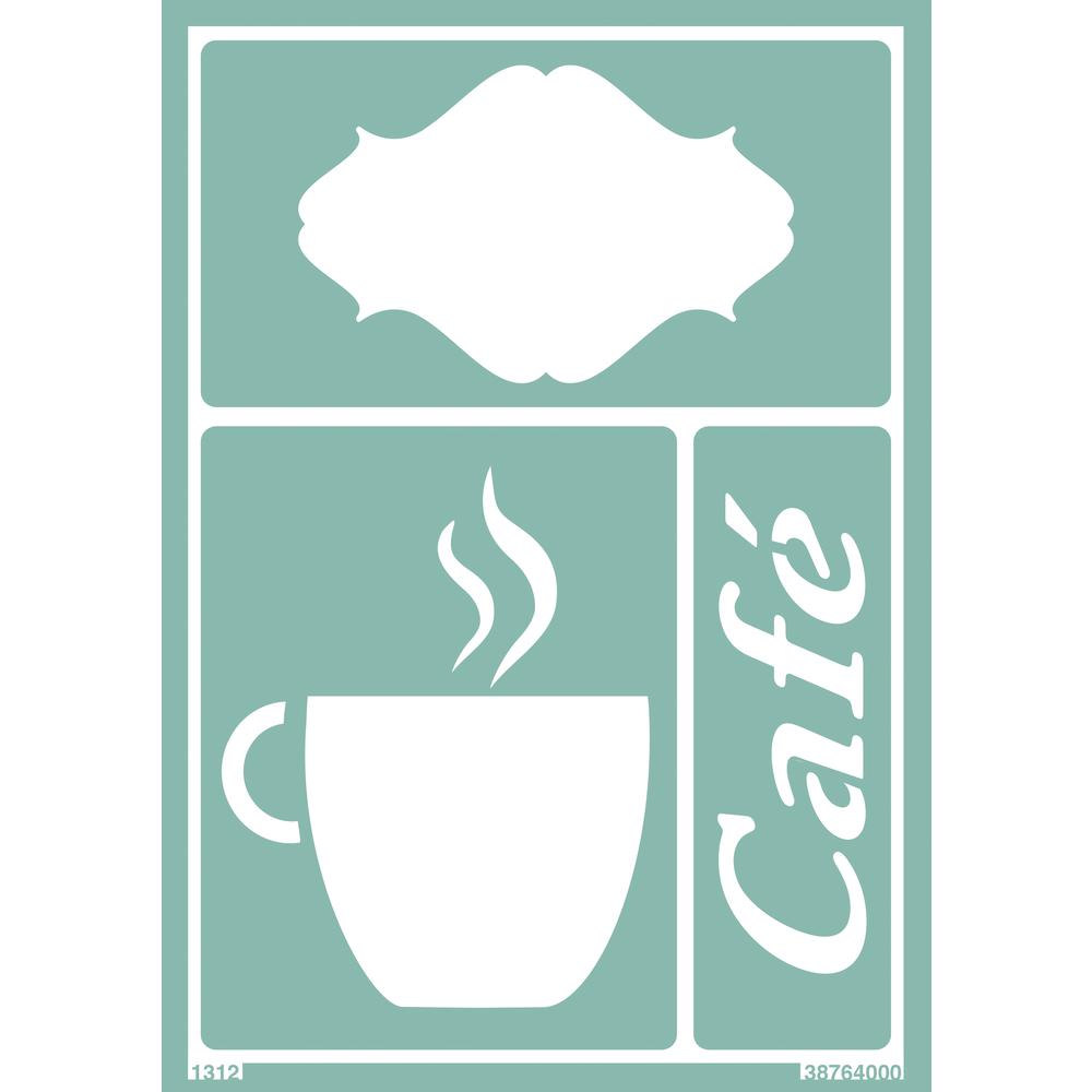 Softschablone: Café, DIN A5, selbstklebend, SB-Btl 1Stück