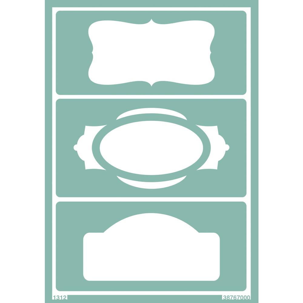 Softschablone: Schilder 1, DIN A5, selbstklebend, SB-Btl 1Stück