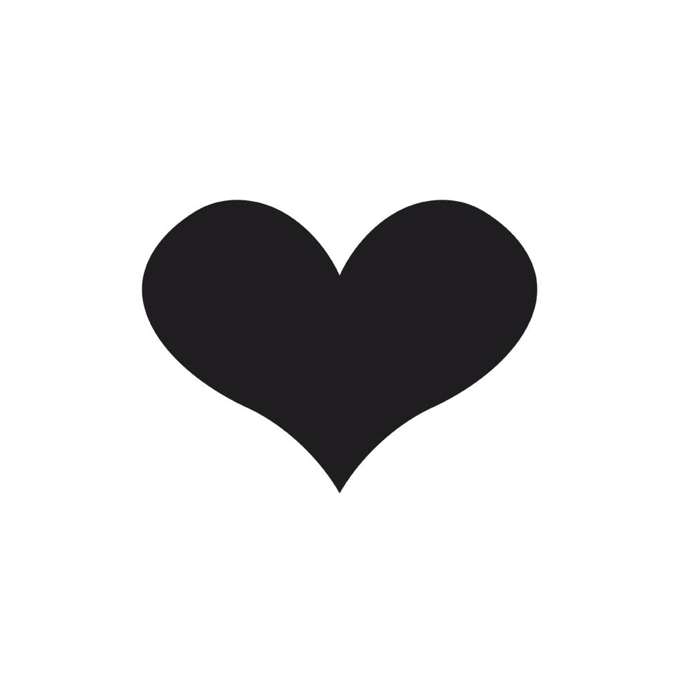 Schablone: großes Herz, 16x20,1cm, selbstklebend, SB-Btl 1Stück