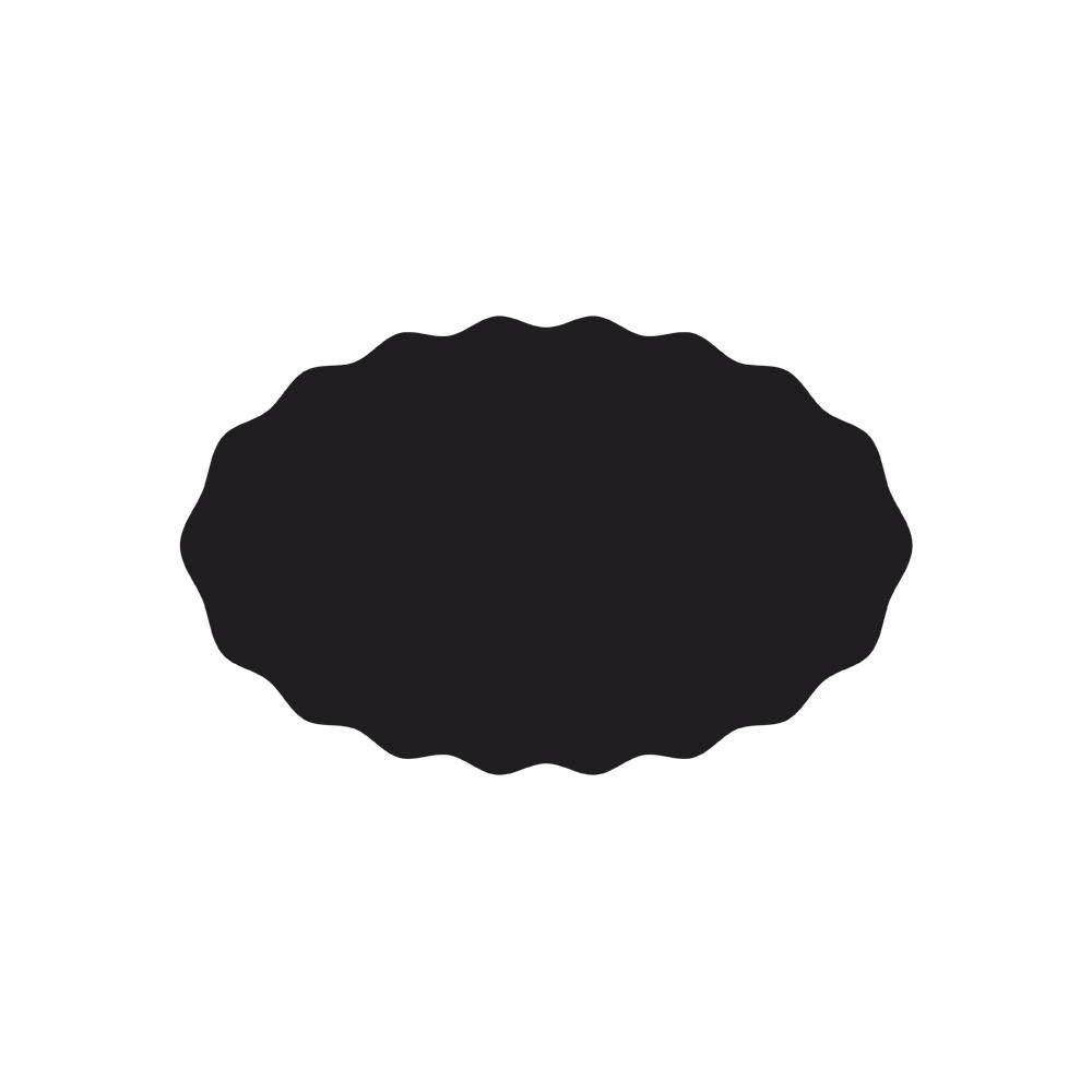 Schablone: Welle Oval, 15x23,6cm, selbstklebend, SB-Btl 1Stück
