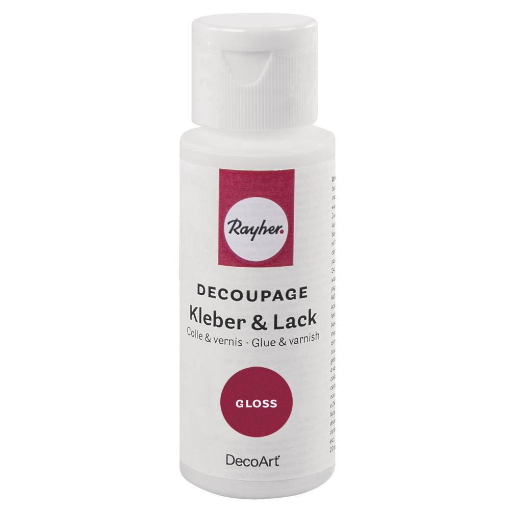 Decoupage Kleber&Lack Gloss, Flasche 59ml