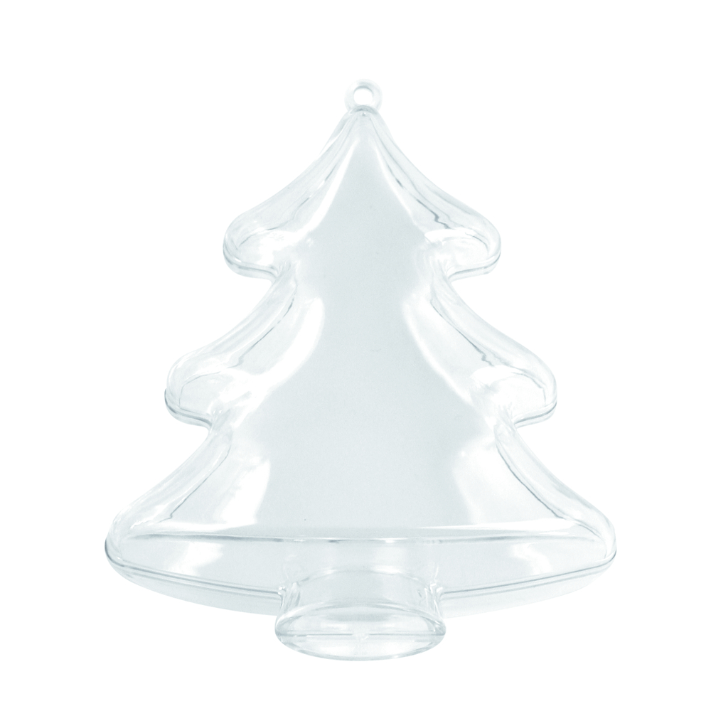 Plastik-Baum, 2tlg., 10 cm, kristall
