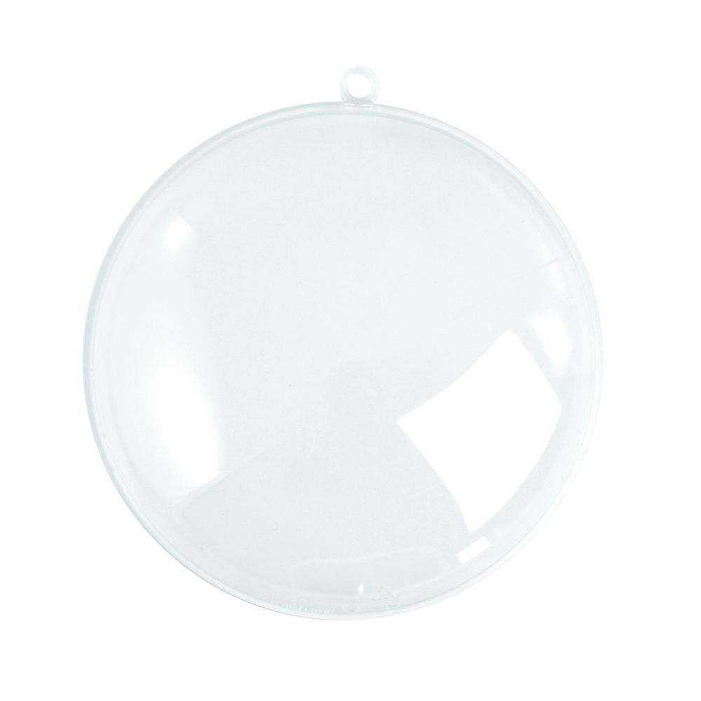 Plastik-Medaillon, 2tlg., 70 mm, kristall