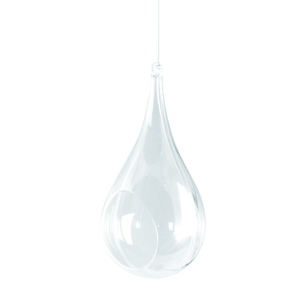 Plastik-Floristik-Tropfen, 2tlg., 18 cm, kristall
