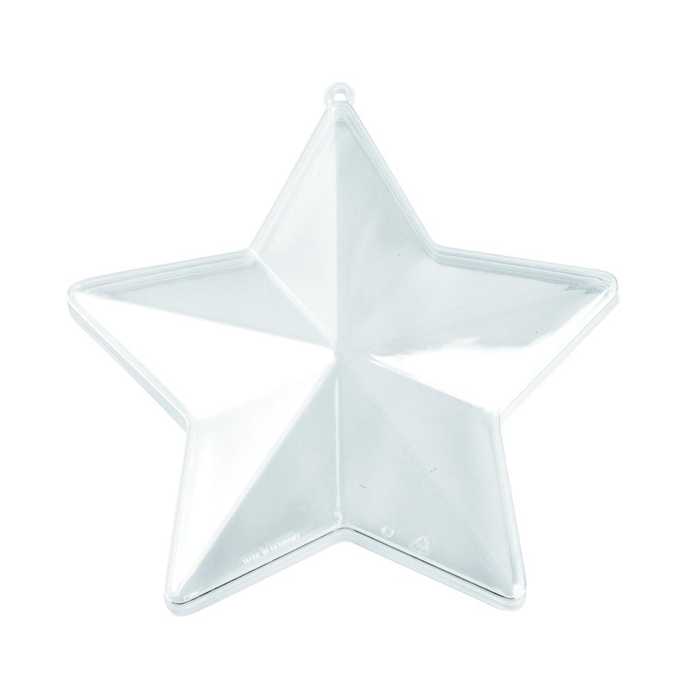 Plastik-Stern, 2tlg., 14cm ø, kristall