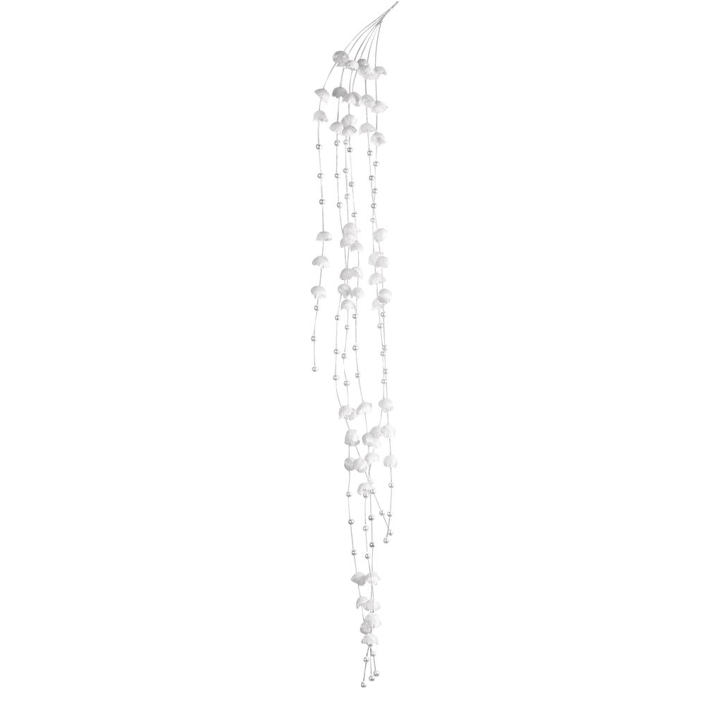 Blütenperlenstrang, 6fach, 60 cm, SB-Btl. 1 Stück, weiß
