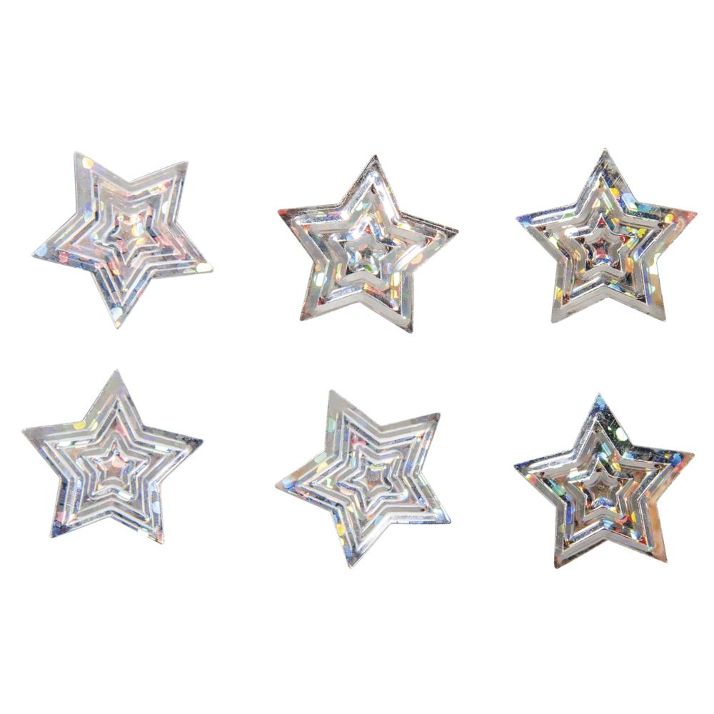 Pailletten Streuteile Sterne, 1,6cm ø, SB-Btl 15g
