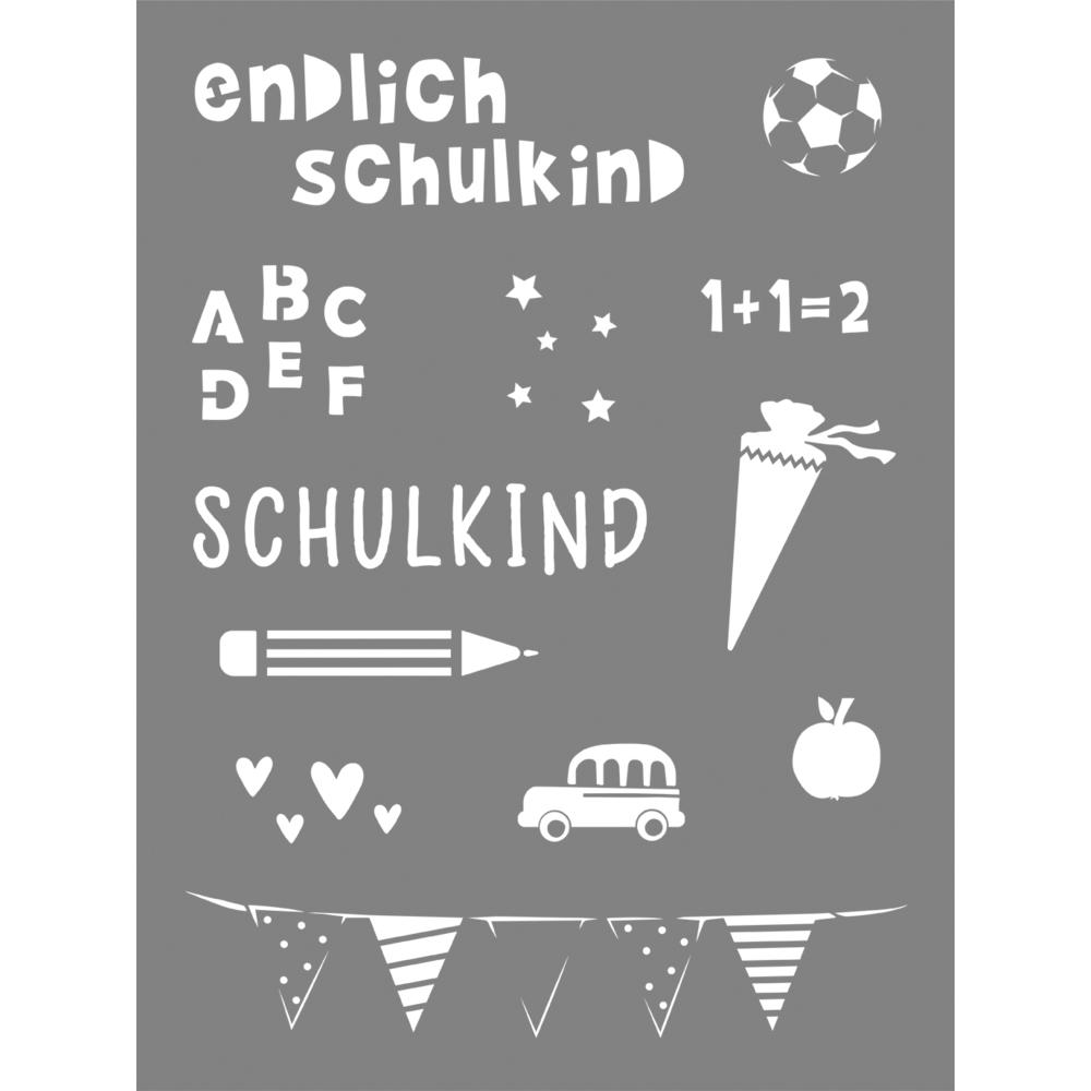 Schablone Schulkind, 15,25x20,32cm, SB-Btl 1Stück