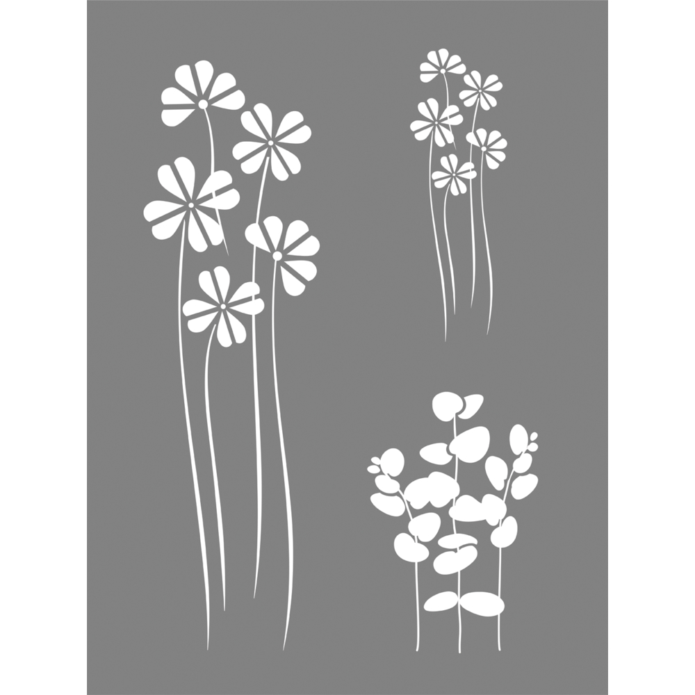 Schablone Flower Mix, 15,25x20,32cm, SB-Btl 1Stück