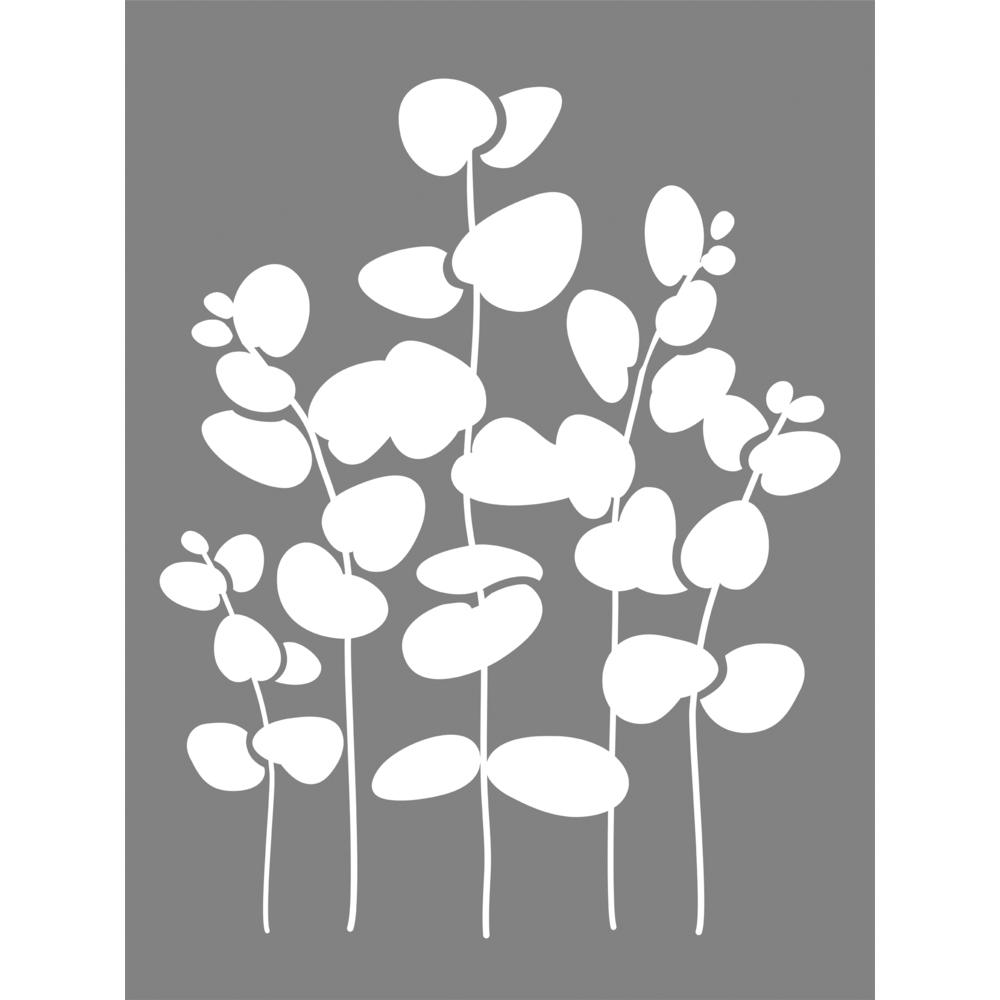 Schablone Eukalyptus, 15,25x20,32cm, SB-Btl 1Stück