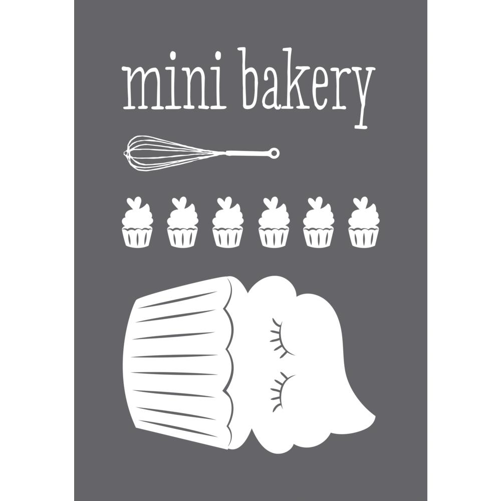 Schablone Mini Bakery A5, 1 Schablone+1 Rakel, SB-Btl