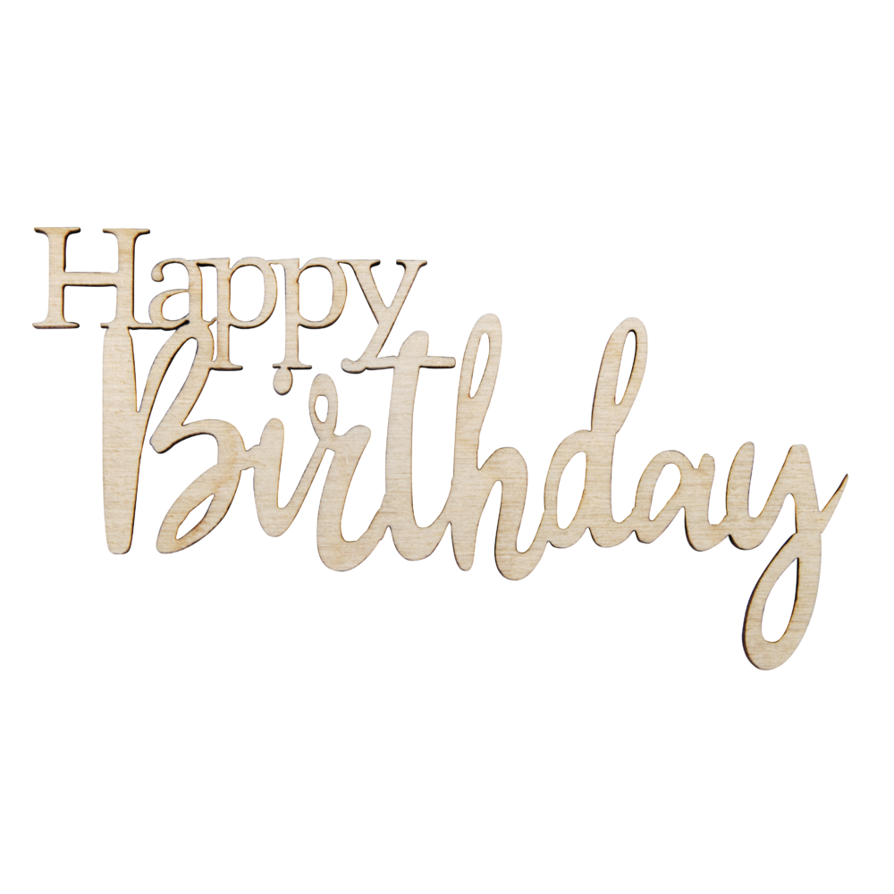 H-MinischriftHappy Birthday,FSCMixCred, 8,5x4,7x0,3cm, SB-Btl 4Stück, natur