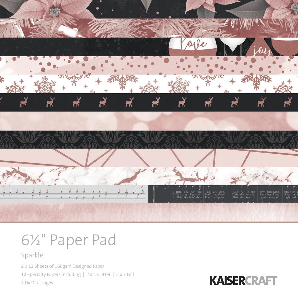 Scrap. Block Sparkle, 16,5x16,5cm, 160g/m2, 40Bogen