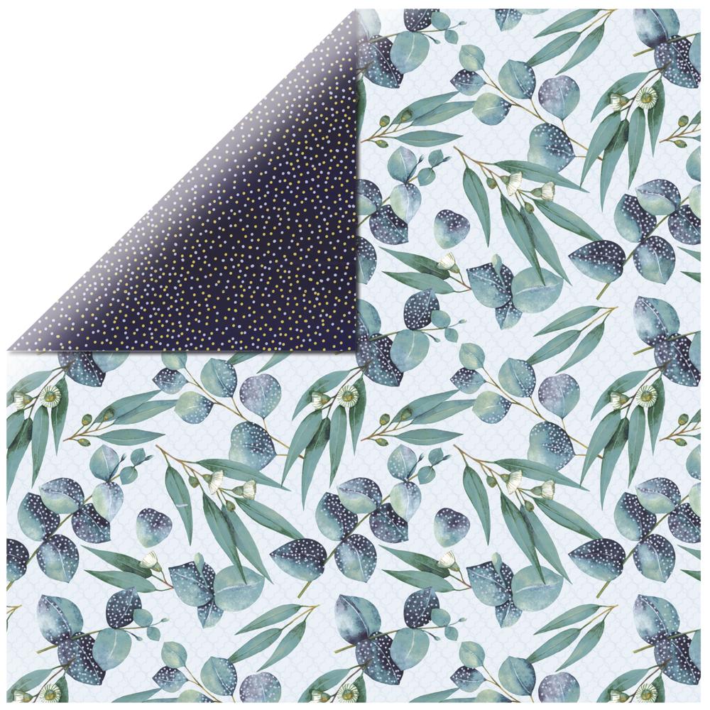 Scrapbookingpapier Gum Leaves, 30,5x30,5cm, 150g/m2