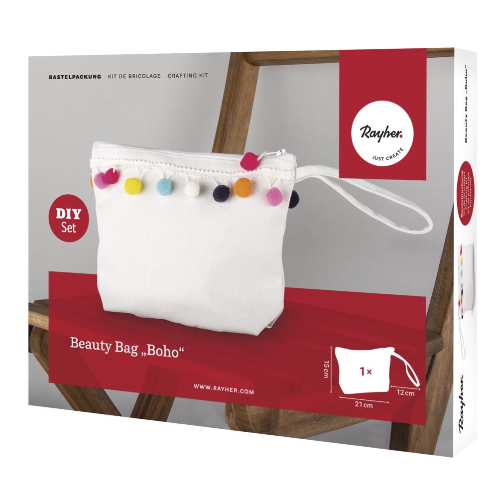 Bastelpackung: Beauty Bag Boho, 21x15x5cm, Box 1Set