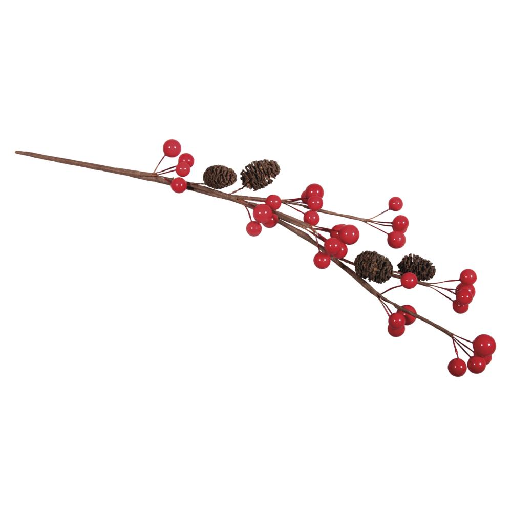 Beerenzweig mit Erlenzapfen, 35cm