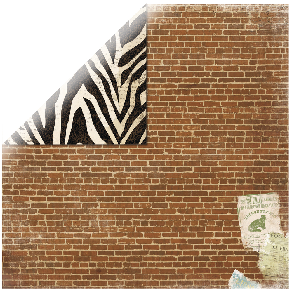 Scrapbookingpapier Safari Jungle, 30,5x30,5cm, 190g/m2