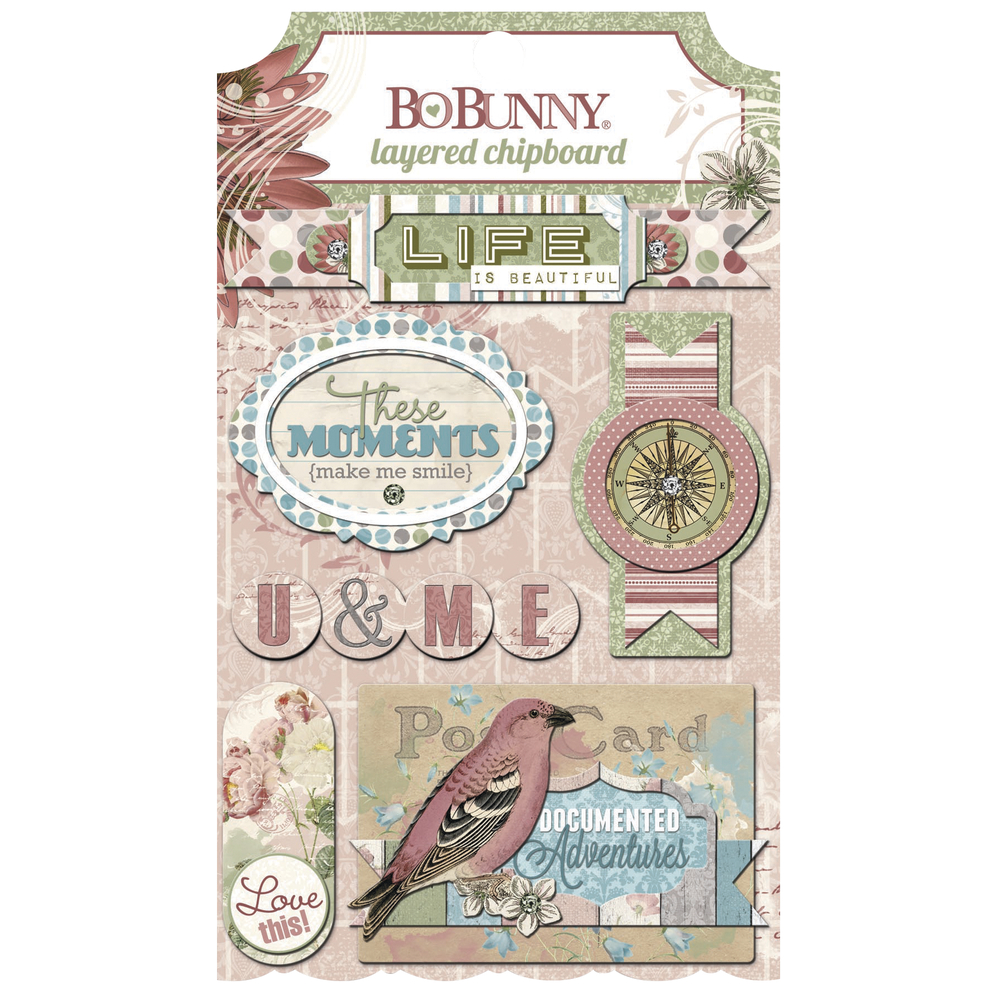 Chipboard Garden Journal, sortiert, SB-Karte