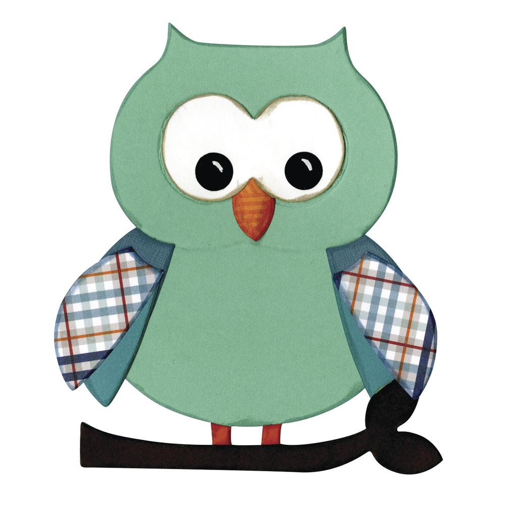 Sizzix Bigz - Owl 5, SB-Blister, 1,27x2,54cm-10,8x13,34cm