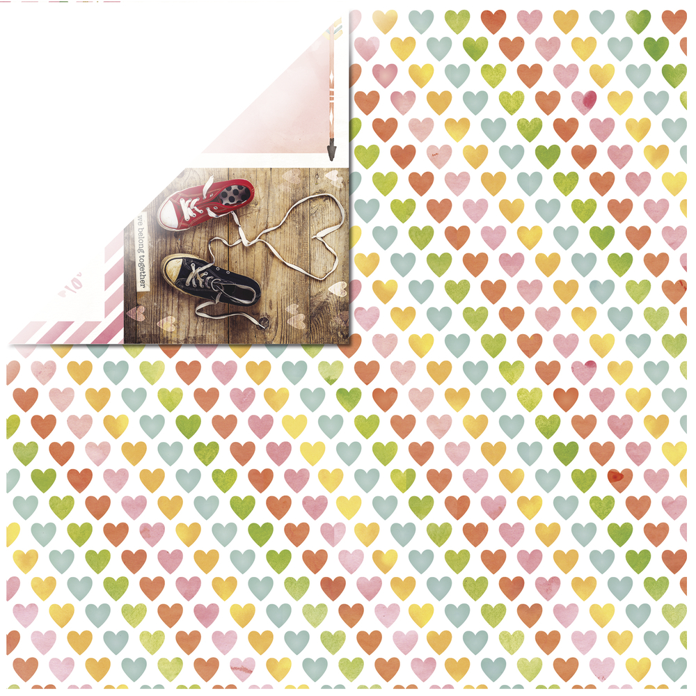 Scrap.Papier Calendar Girl February, 30,5x30,5cm, 190g/m2