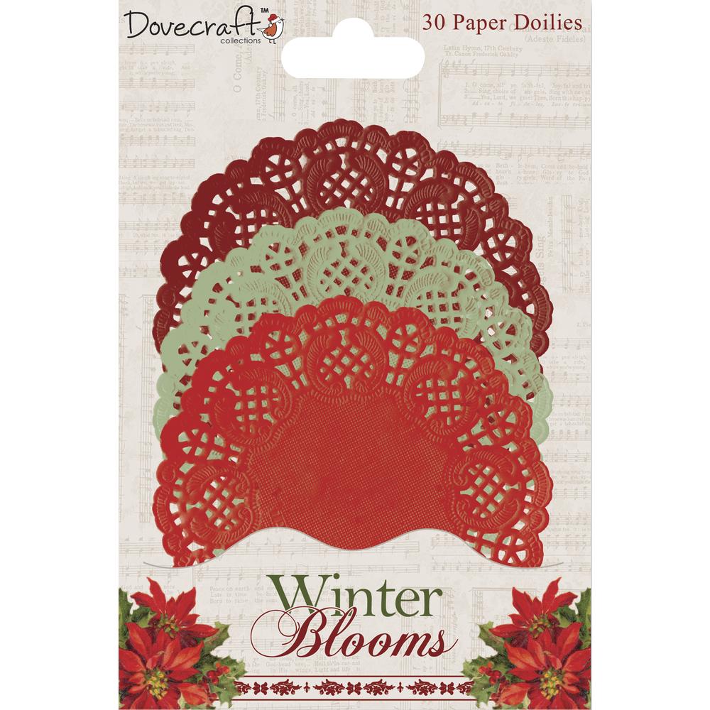 Paper Doilies Winter Blooms, SB-Btl 30Stück