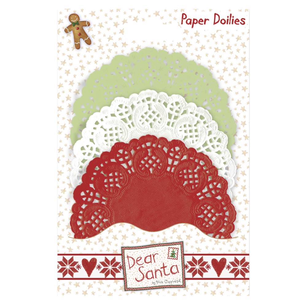 Paper Doilies Dear Santa, SB-Btl 30Stück