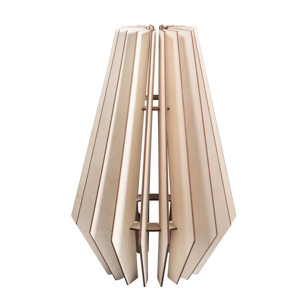 Holz Lamellenlampe Stockholm,FSCMixCred., 24x24x35cm, 22-tlg., Box 1Set, natur