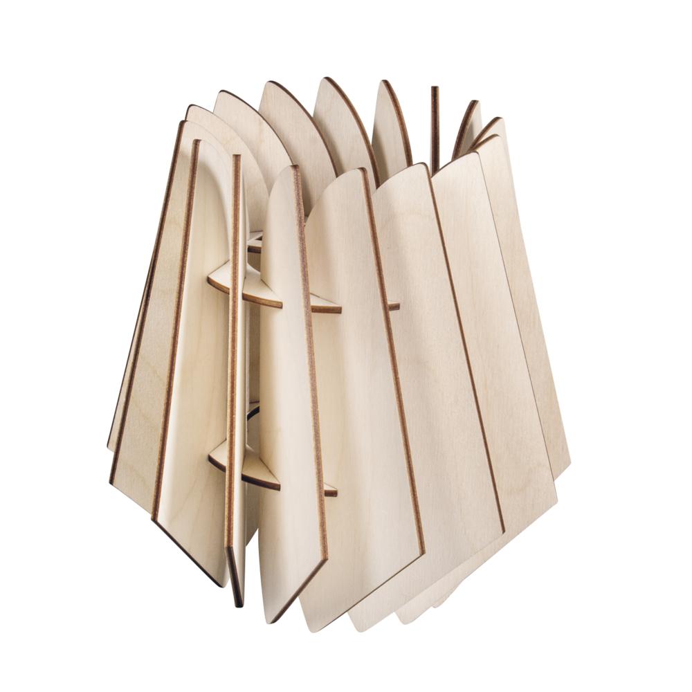 Holz Lamellenlampe Oslo, FSCMixCred., 18,5x18,5x20cm, 18-tlg., Box 1Set, natur