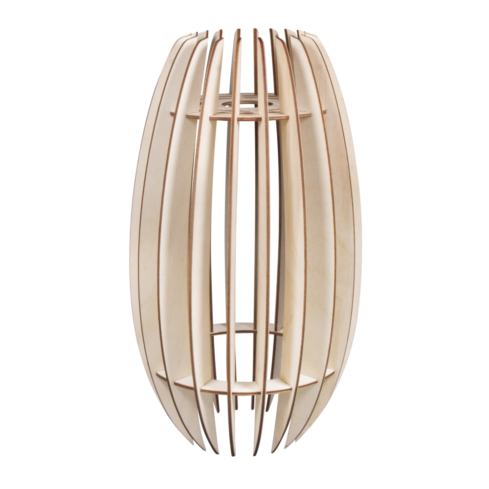 Holz Lamellenlampe Helsinki, FSCMixCred, 20x20x35cm, 22-tlg., Box 1Set, natur
