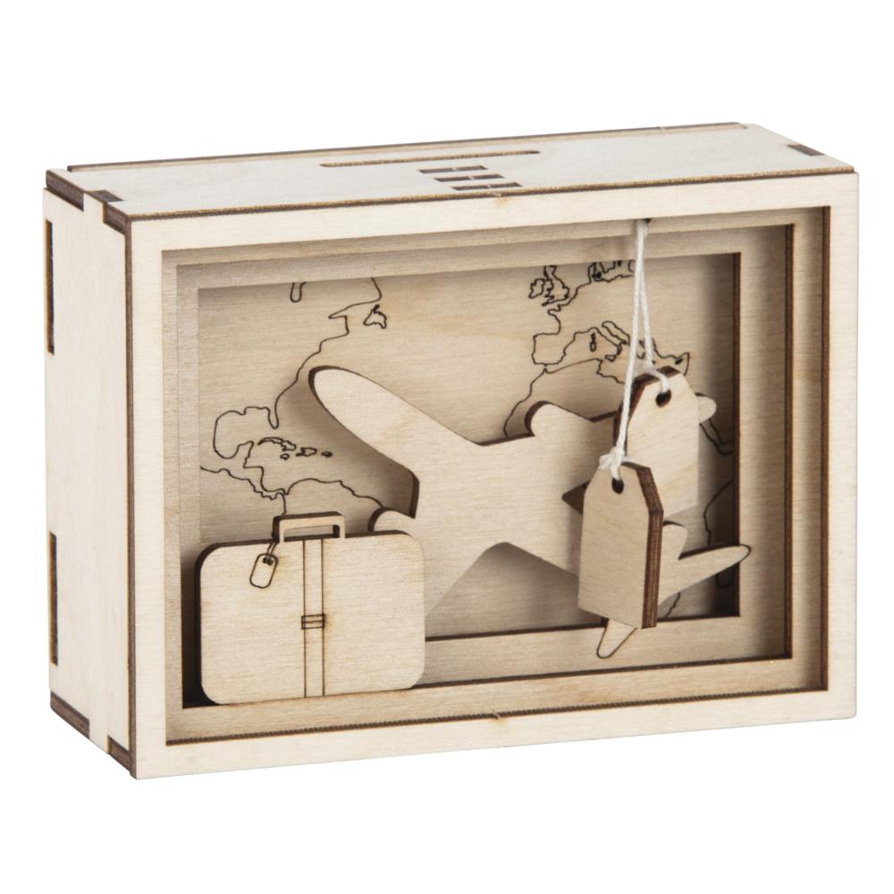 Holz 3D GeschenkboxJourney,FSCMixCred., 11,5x8,5x5cm, 12 tlg. Bausatz, Box 1Set, natur