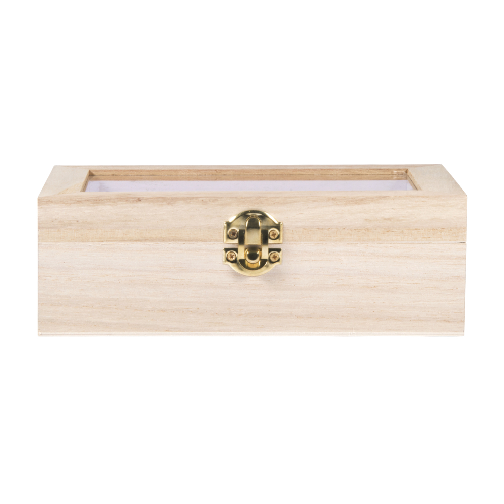 Holz-Box m. Schütteldeckel, FSC100%, 20x12,5x6,5cm, natur